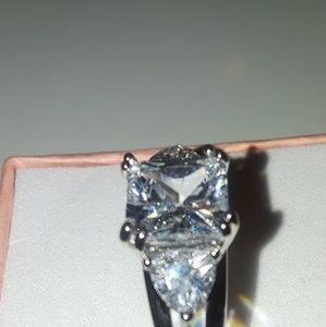 925 stamped white sapphire gemstone size 7